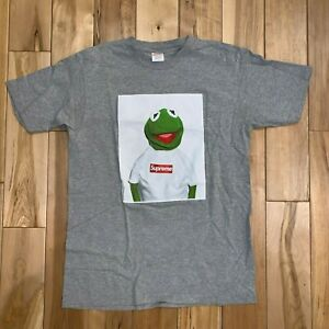 c67a96b5b697 SUPREME 2008SS Kermit the frog Tee T-shirt Grey Size: Large | eBay