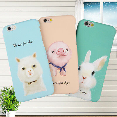 Cute Bunny Pig Hard Back Shell Phone Case Cover For iPhone 6 6s Plus 5s