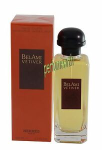 0870a9a95e0 Bel Ami Vetiver by Hermes for Men Eau De Toilette 3.4 3.3 OZ 100 ML ...
