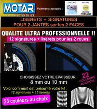 LISERET JANTE  MOTO AUTOCOLLANT POUR SV 650 S Livré en 24h 23 couleurs