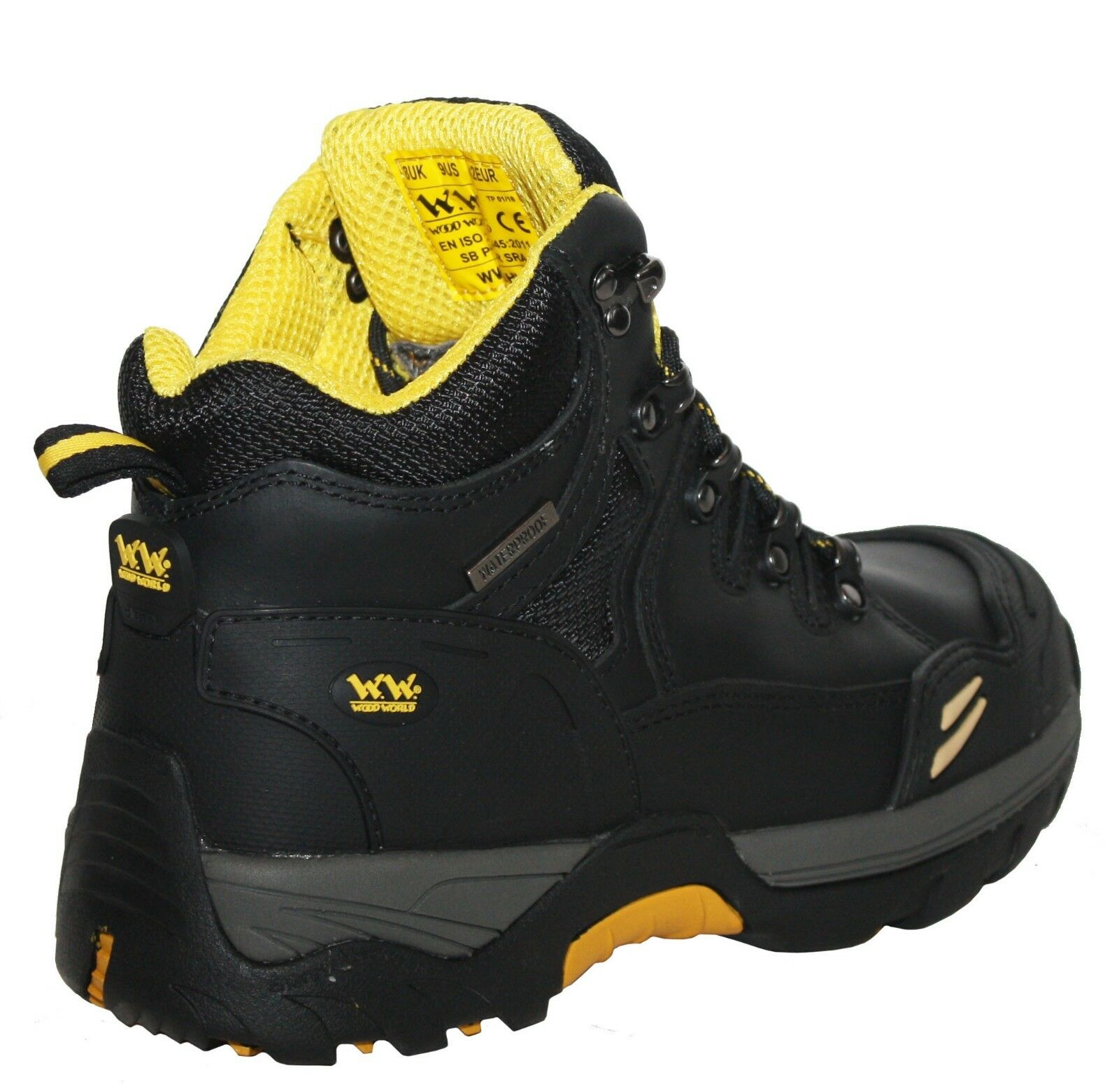 reputable site 14564 13dc7 ... Nouveau Homme Wood World Safety Safety Safety Steel Toe Cap Imperméable  Miel Travail Pointure 300744
