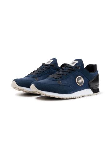 Sneakers Travis Zapatos Hombre Colmar Drill Gris Blanco Suede Nuevo Azul Zwv4Iq
