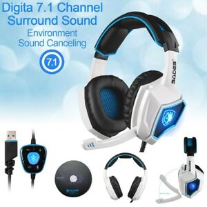 de965af2667 Sades Spirit Wolf 7.1 Surround Stereo Sound USB Gaming Headset with ...