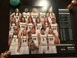 Details About 2011 12 Michigan State Spartans Women S Basketball Schedule Poster