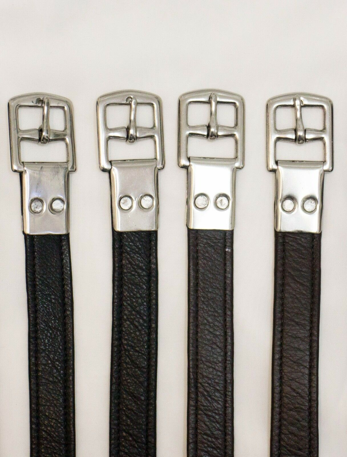 Delfina Premium Calidad Negro Suave Piel De Becerro Estribo 57  o 59