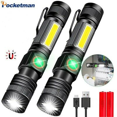 Radami COB 6 LED Torch Work Lamp with Clip Magnet and SOS Function