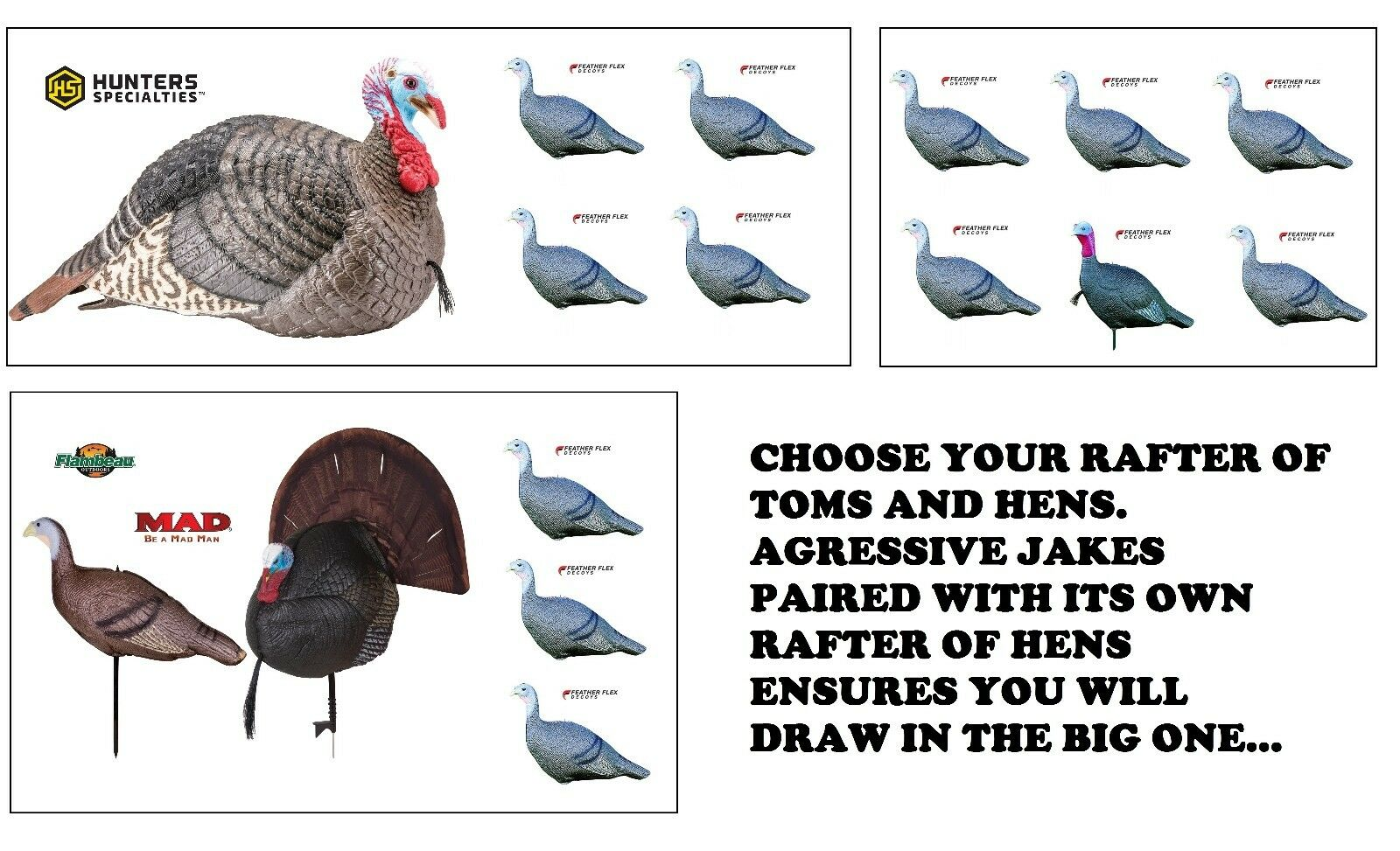Turkey  Jake Hen Combo Rafters Gobbler Brood Hunting Jake Jenny King Strut Decoys  with 60% off discount
