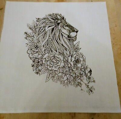 A Black Sheep Printed On Fabric Panel Make A Cushion Upholstery Craft