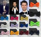 Men Solid Classic Wedding Bowtie Man Necktie Bow Tie Novelty Tuxedo Adjustable