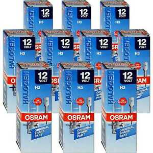 Set-10x-Osram-Original-Line-H3-Halogen-12V-55W-Sockel-PK22s-Gluehbirne