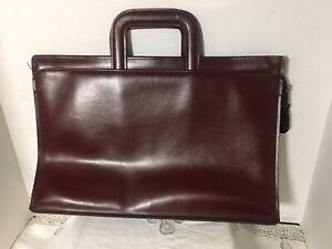 Vtg-Hazel-America-s-Case-Maker-Burgundy-Portfolio-Briefcase-Retractable-Handles
