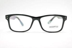 Viewoptics-VO1720-51-17-140-Schwarz-oval-Brille-Brillengestell-eyeglasses-Neu