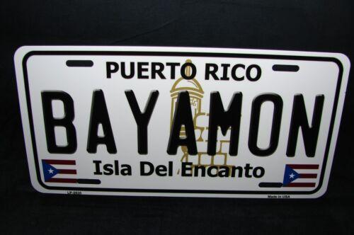PUERTO RICO BAYAMON  ISLA DEL ENCANTO METAL NOVELTY LICENSE PLATE FOR CARS
