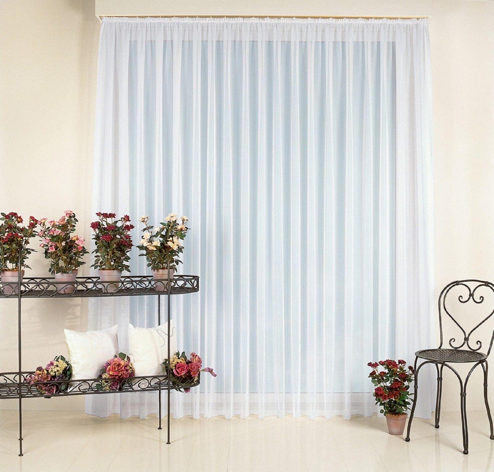 Gardine, Store transparent transparent transparent weiß in vielen Größen | Üppiges Design  1bc71a
