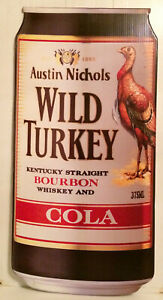 Vintage-Rare-Wild-Turkey-amp-Cola-Can-Large-Corflute-Advertising-Display-Sign