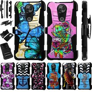 66f5d4aa4ee0 For Motorola Moto E5 Plus Play Cruise Supra Holster Phone Case Cover ...