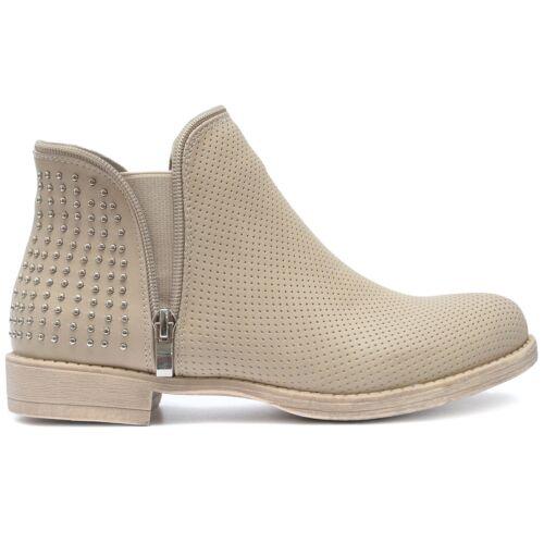 Chaussures Femmes Bottes Chelsea Pantoufles Rivets brièvement à moitié Bottines Talon Bloc