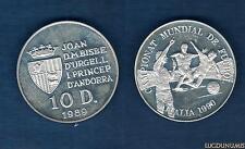 Andorre - 10 Diners 1989 II Coupe Du Monde De Football Italie 1990 - Andorra