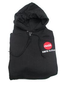 Coke Zero Sugar Hooded Black Sweatshirt 3X-Large 3XL BRAND NEW