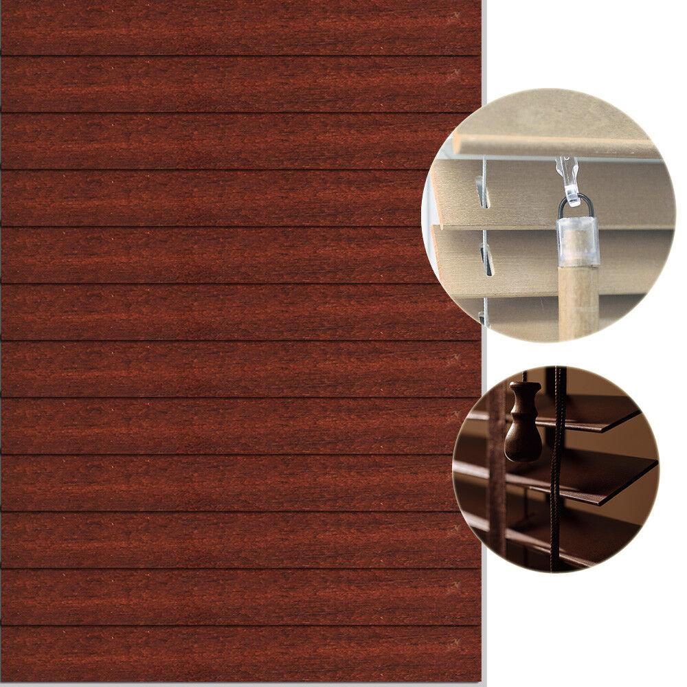 Holzjalousie Holzjalousie Holzjalousie Jalousie Sonnenschutz Store Rollo Holzrollo Lichtschutz Holz 40 cm  | Tragen-wider  9751bc