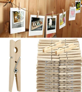 Home & Garden Shop For Cheap Wooden Clothes Pegs Pins Clips Washing Line Airer Dryer Line Wood Discounts Household Supplies & Cleaning