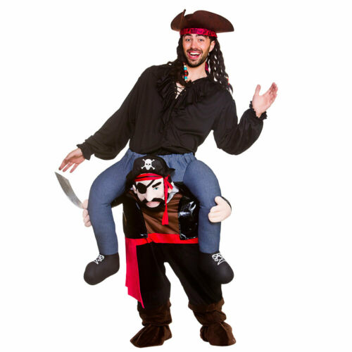 Carry Me Pirate Mens Deluxe Pirates Fnacy Dress Costume Adults Stag Night