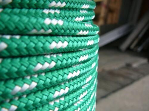 "NovaTech XLE Halyard Sheet Line Dacron Sailboat Rope 1//4/"" x 50/' Green//White"