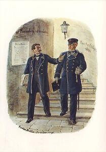 AK-Reichspostverwaltung-Postdirektor-Postsekretaer-1871-mit-Briefmarken-Tag