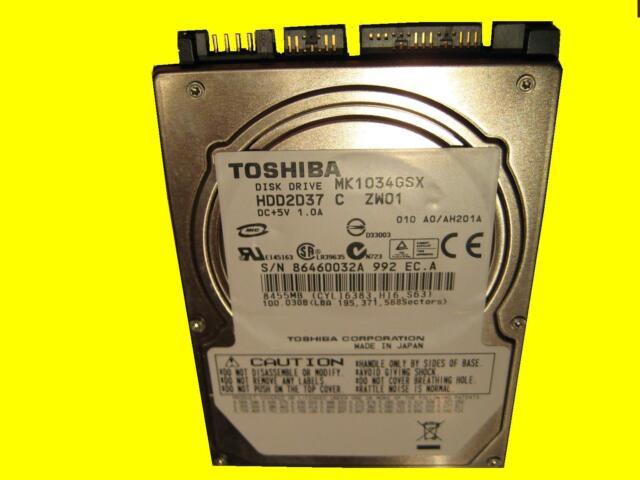 Notebook Hard Drive 2,5 -inch Toshiba MK1034GSX / Sata