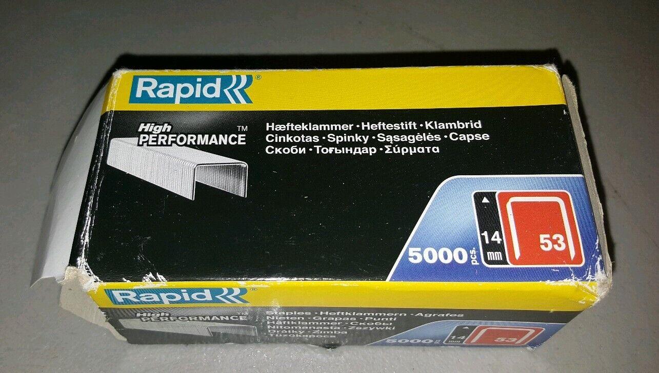 Rapid 13//14 14 mm galvanisé Staples Box 5000 RPD1314