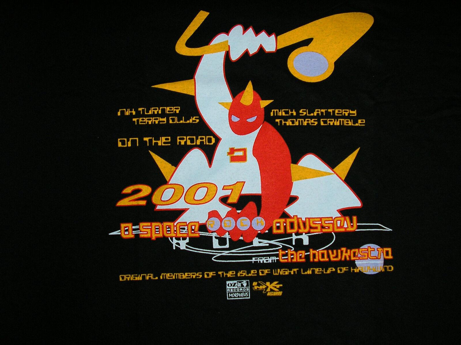 Hawkwind Hawkestra Nik Turner Crew T shirt 2001 to 2003 unopened unworn