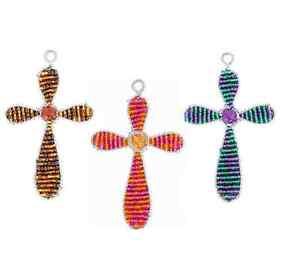 Beadworx-croix Contemporain-porte-clés - Perles Travail Populaire Perles De Verre-afficher Le Titre D'origine