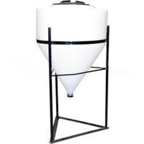 35 gallon full drain cone bottom tank with stand all poly chemical//water storage