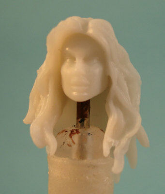 "FH054 Custom Cast Sculpt part Female head cast for use with 3.75/"" action figures"