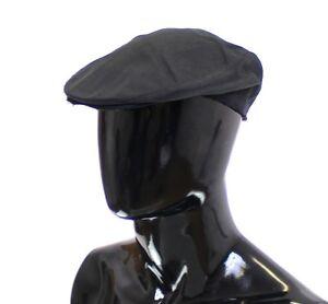M 58 NEW $240 DOLCE /& GABBANA Beige Cotton Logo Newsboy Cap Hat Cabbie s