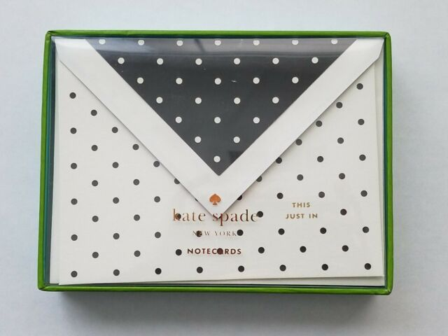 Blank inside Gold Polka Dot Card Set of 5 with envelope