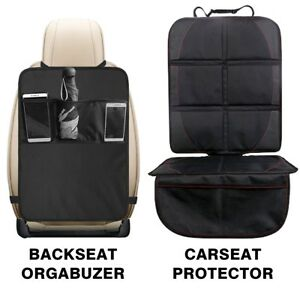 KICK-MAT-CAR-SEAT-PROTECTOR-COVER-3-MESH-POCKETS-TOY-STORAGE-ORGANISER-KIDS-BABY