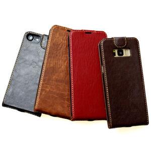 Edles-Leder-Smartphone-Cover-fuer-Apple-Samsung-Huawei-Handy-Schutzhuelle-Tasche
