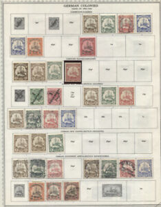 German Offices and Occupation Issues Collection MH/Used CV$500.45 1898-1945