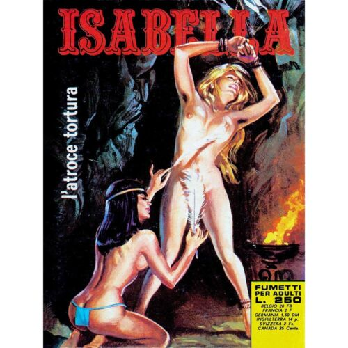 Comic Book Isabella Adult Atrocious Torture Tickle Feather Italy Framed Print