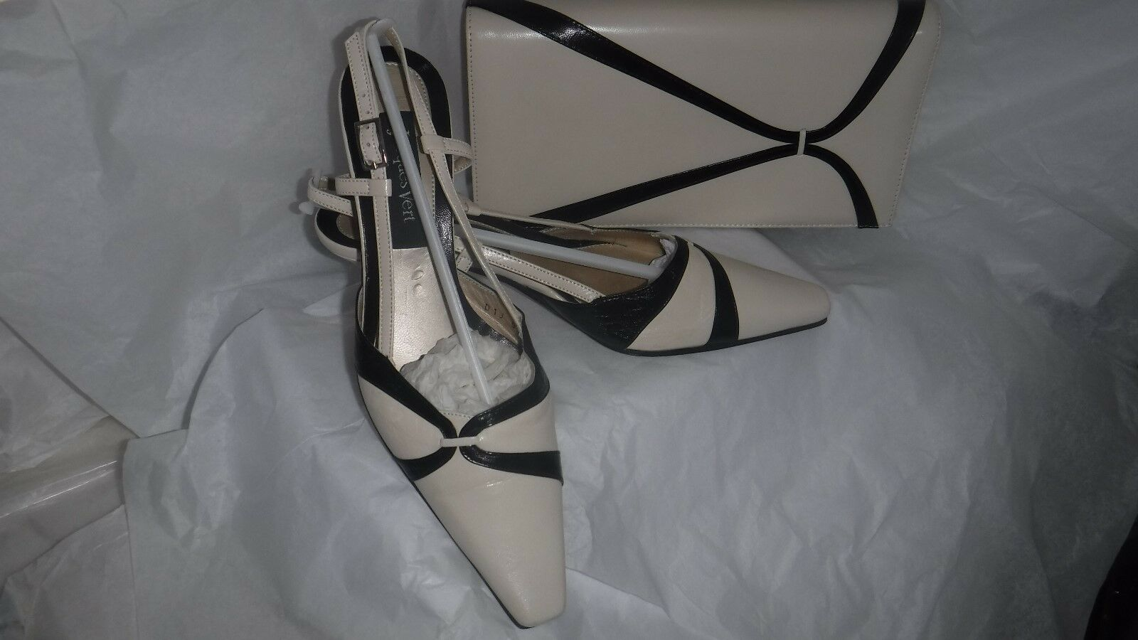 # JACQUES VERT POWDER PUFF RANGE Schuhe & MATCHING CLUTCH BAG SIZE 4 EU 37