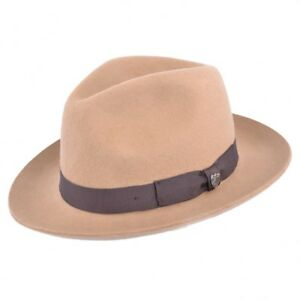 715151a500f2c Image is loading Camel-Gladwin-Bond-Snap-Brim-Fedora-Hat-Black-