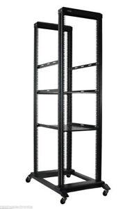 42U-Open-Frame-Network-Server-Rack-1000MM-Deep-4-Post-3-Pairs-of-L-Rails-2-Shelf