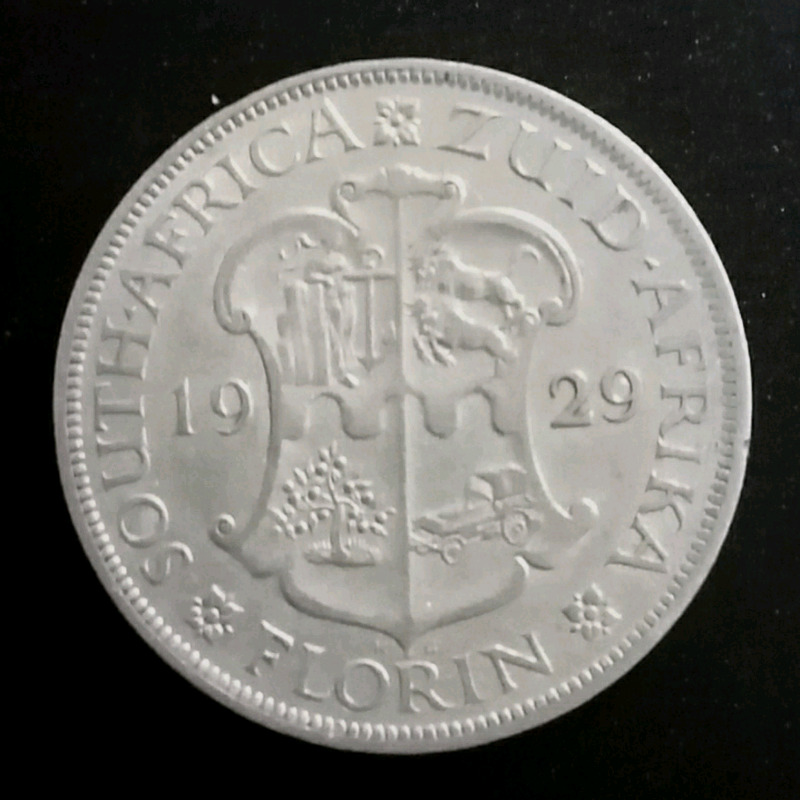 1929 Florin (2 Shillings) Valued at R45000