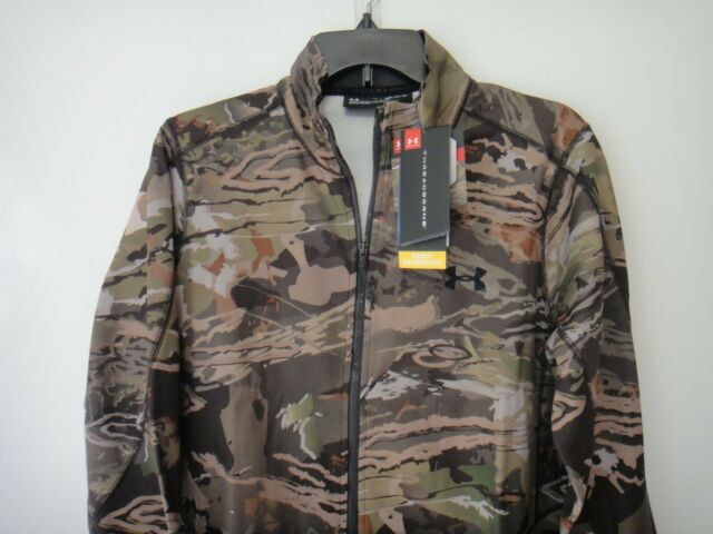 Under Armour Mens Threadborne Hunting Scent Control Full Zip Jacket Forest MD