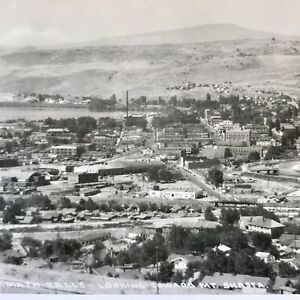 Klamath Falls Looking Toward Mt Shasta California CA RPPC Real Picture Aerial