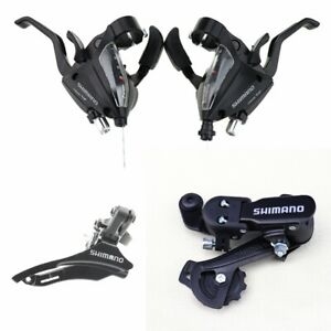 New 1 pairs Shimano ST-EF500 3x7 Speed MTB Bike Brake Levers Set Shifter Shift