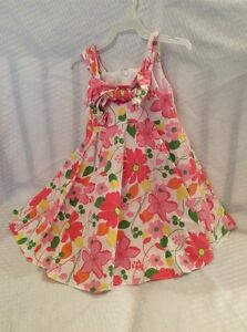 EUC-Plum-Pudding-Toddler-Spring-Summer-Holiday-Dress-Size-3T-Color-Flora