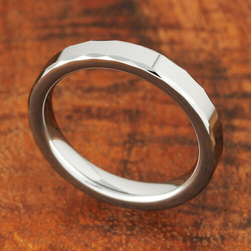 Tungsten Ring 3mm High Polish Dimond Cut Edge Wedding RingsTUR5012