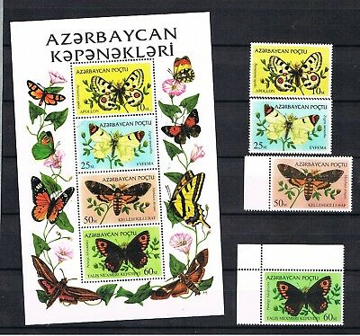 Asia Klb Schmetterlinge Postfrisch Nourishing Blood And Adjusting Spirit Aserbaidschan 1995 Satz 195/98 Stamps